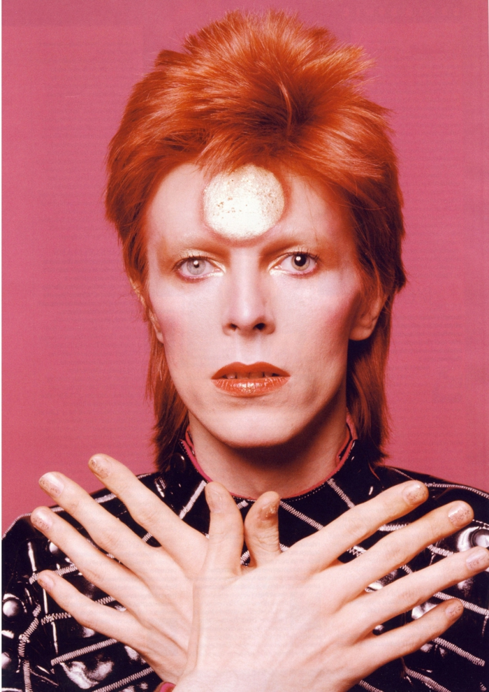 David Bowie Augen rotehaare
