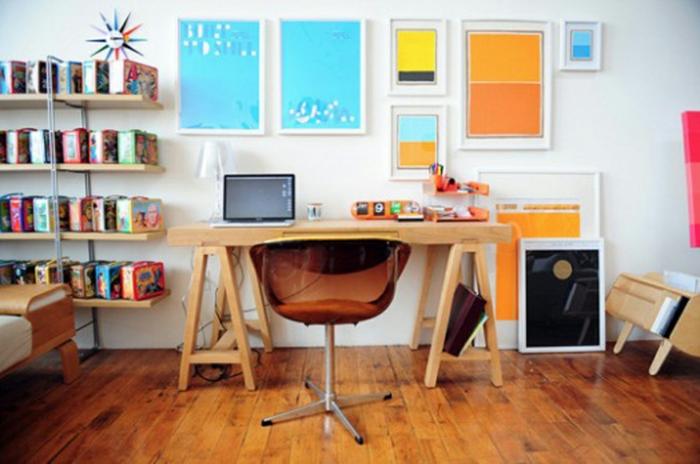 Fotowand Ideen viel farb wirkung