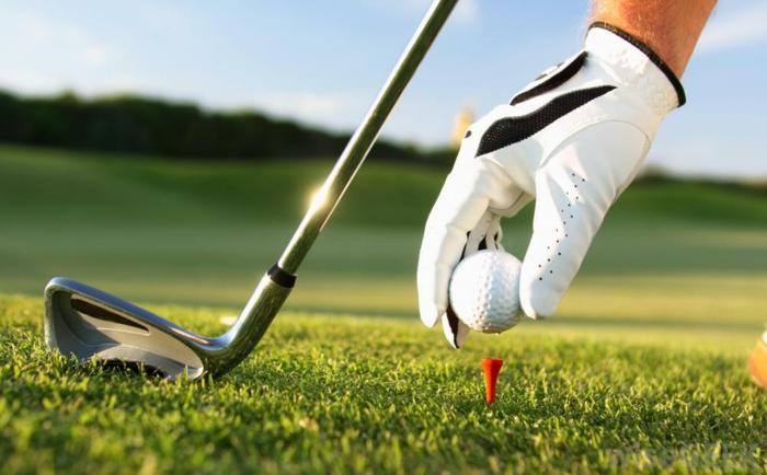 Golf Schläger position