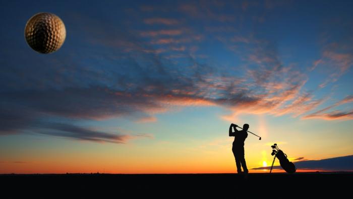 Golf Schläger schlag