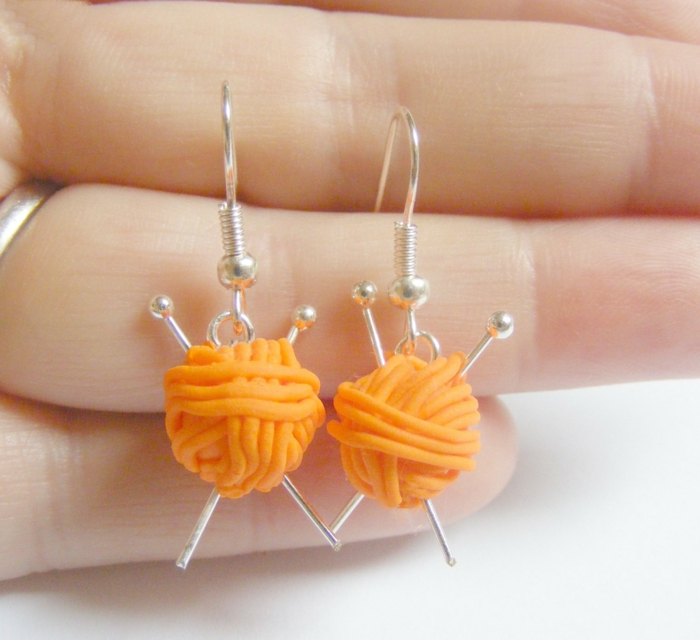 Handgemachter DIY Schmuck ohrringe orange