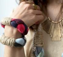 Handgemachter Schmuck aus Naturfasern – DIY Ketten und Armbänder