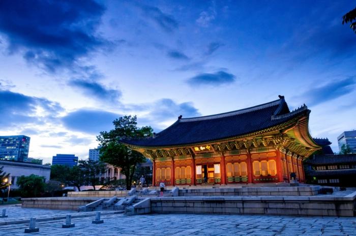 Hauptstadt von Südkorea Deoksu gung palast