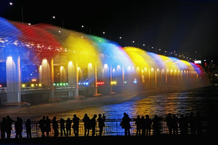 Hauptstadt von Südkorea brücke wasserspiel