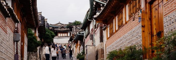 Hauptstadt von Südkorea bukchon hanog dorf