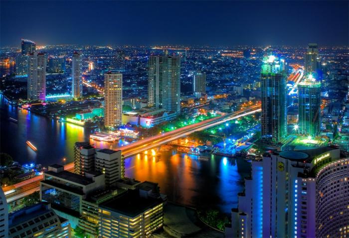 Hauptstadt von Südkorea nachts