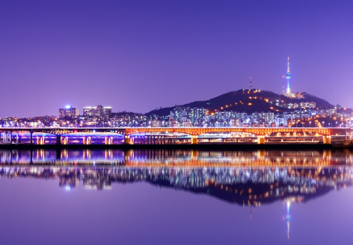 Hauptstadt von Südkorea spiegelung