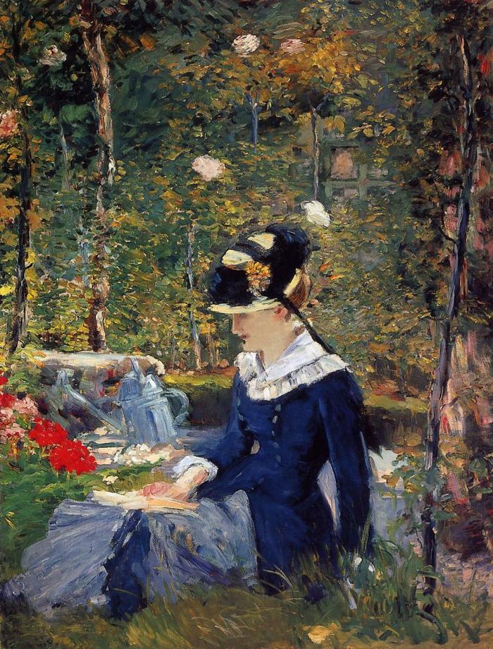 Impressionism us Eduard Manet lesende Frau