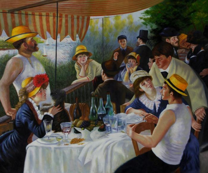 Impressionismus Renoir Mittagsessen am Board