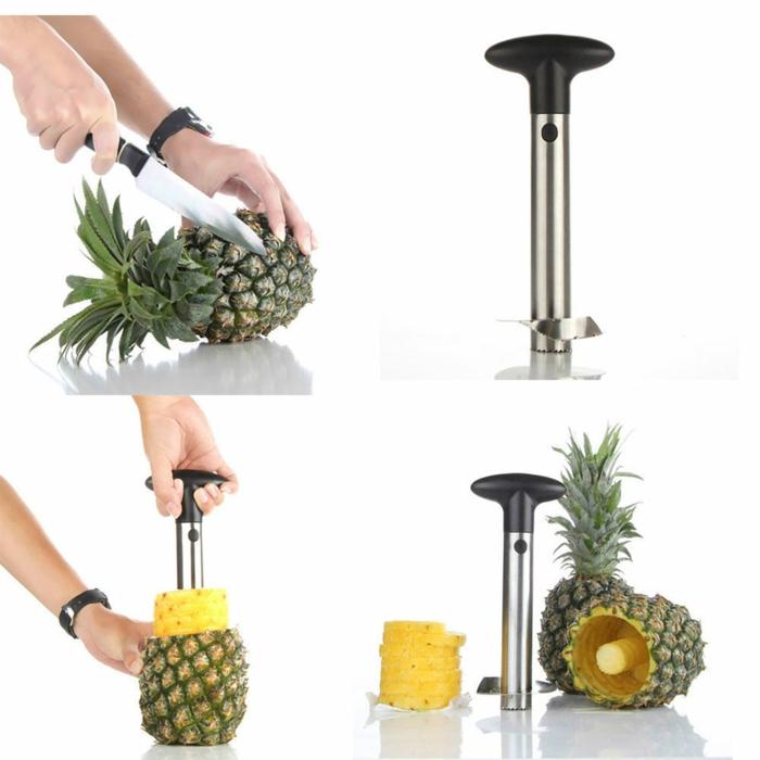 Kücheneinrichtung ananas messer colage