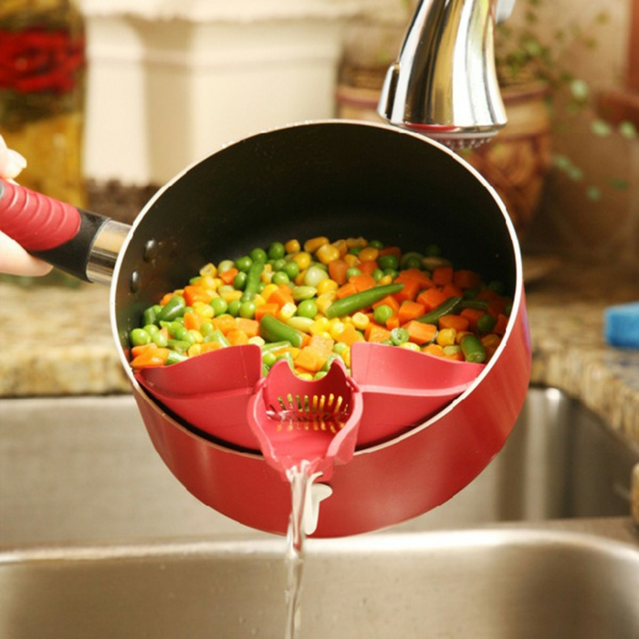 Kücheneinrichtungen abguss klemme topf