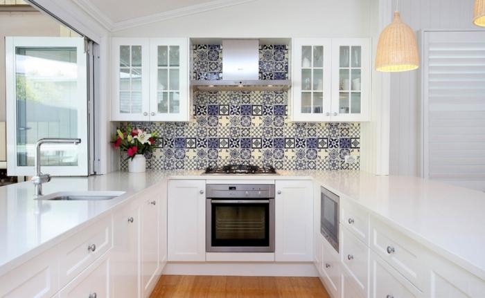 Küchengestaltung ideen moderne küche in weiß hochglanz