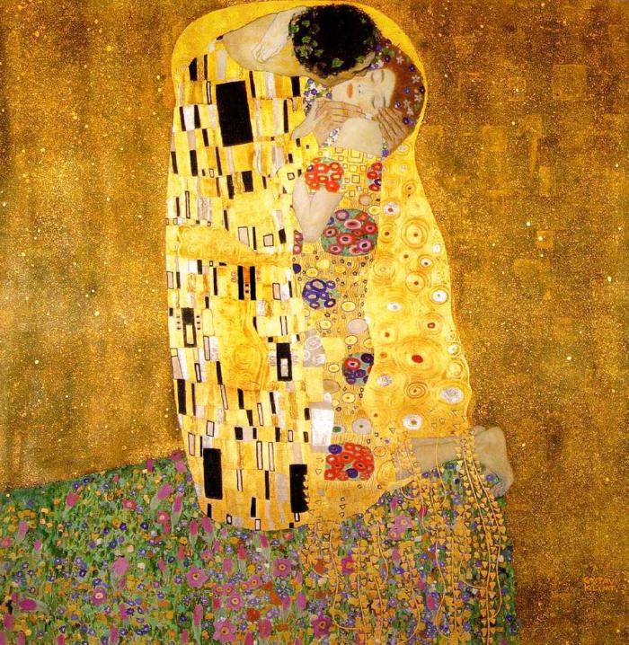 Klimt der Kuss bild
