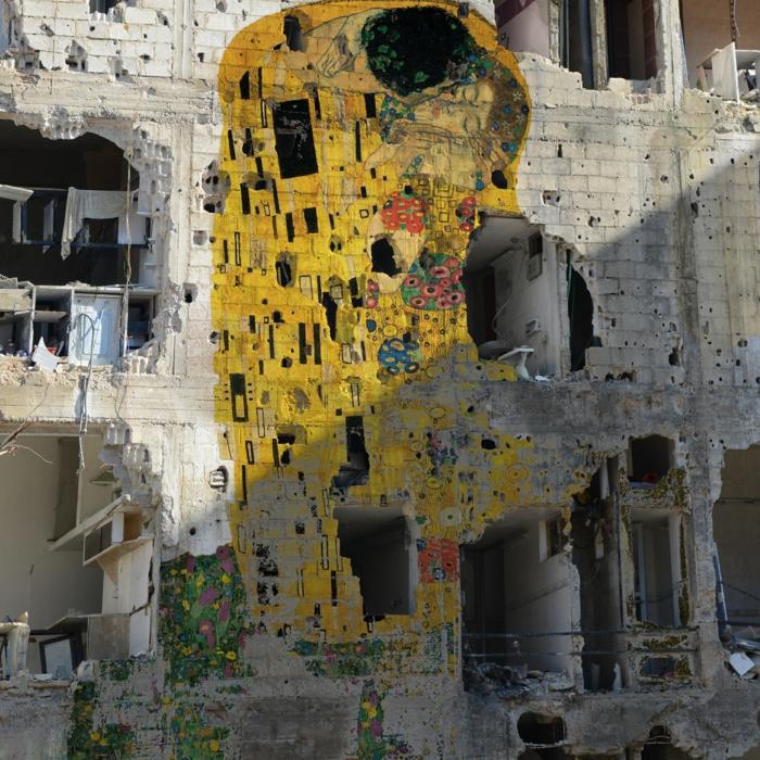 Klimt der Kuss syrische streetart