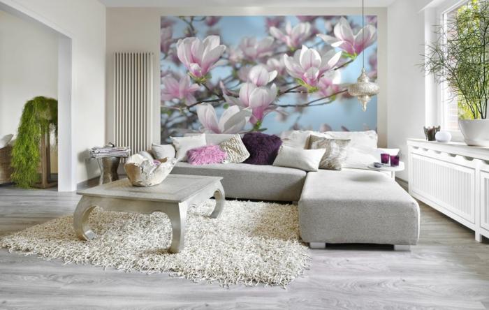 Magnolien baum gartenpflanzen wandgestaltung foto tapete
