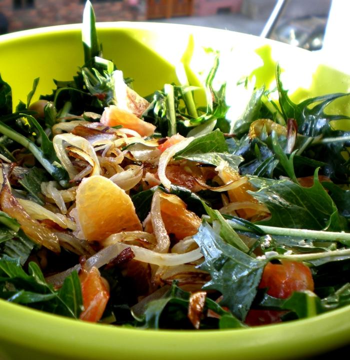 Makrobiotische Ernährung rukola orange
