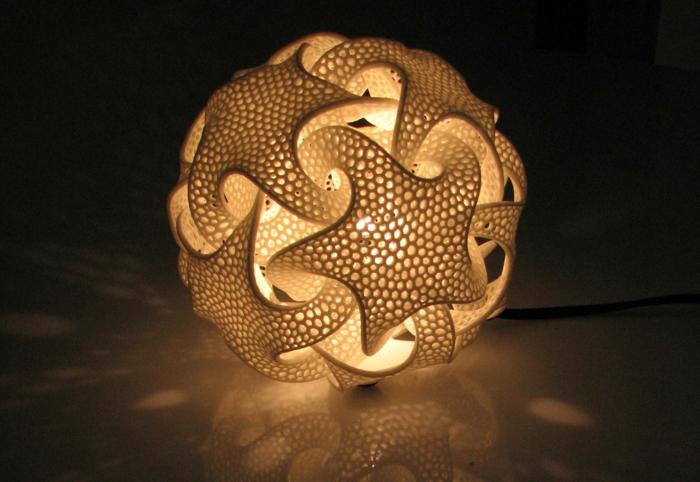 Moderne Skulpturen symmtrie lampe