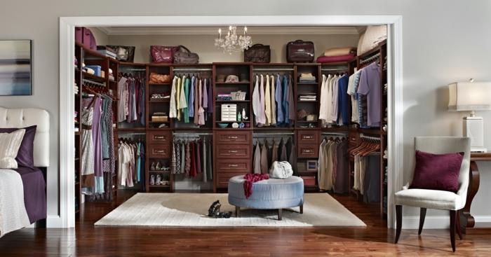 schlafzimmer mit begehbarem kleiderschrank- eine perfekte ordnung, Hause ideen