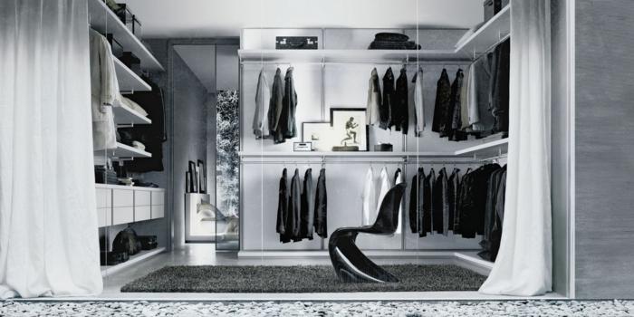 Schlafzimmer mit begehbarem Kleiderschrank spiegel