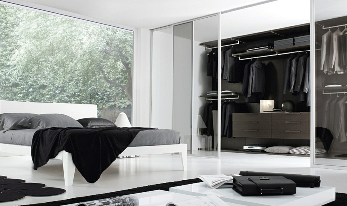 schlafzimmer mit begehbarem kleiderschrank eine perfekte. Black Bedroom Furniture Sets. Home Design Ideas