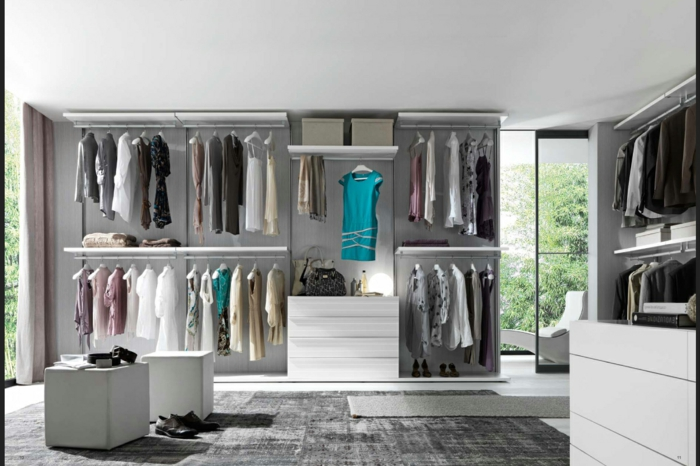 Schlafzimmer mit begehbarem Kleiderschrank teuer weiss