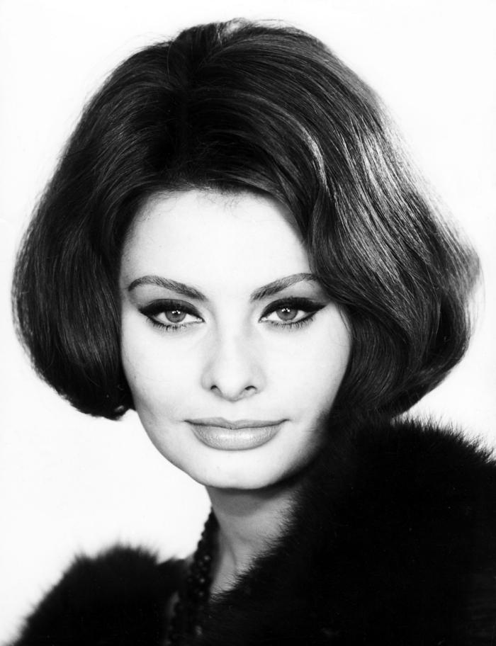 Sophia Loren 50er jahre frisuren haarschnitte