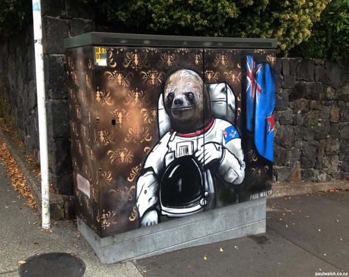Streetart Künstler Astrosloth