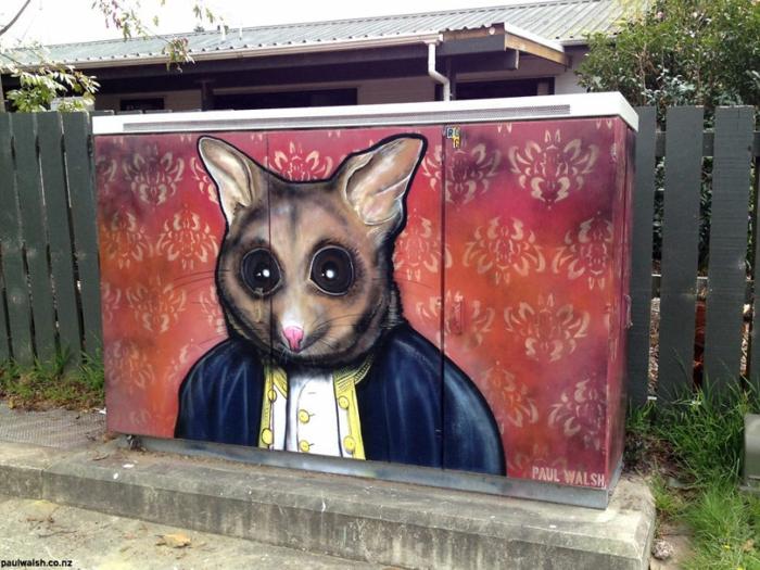 Streetart Künstler Capitan Ratte