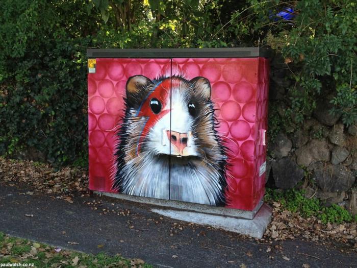 Streetart Künstler gieriger sternestaub