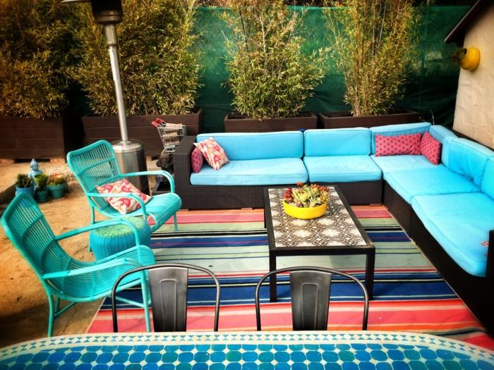 Terrasse Gestalten neue frische farbe