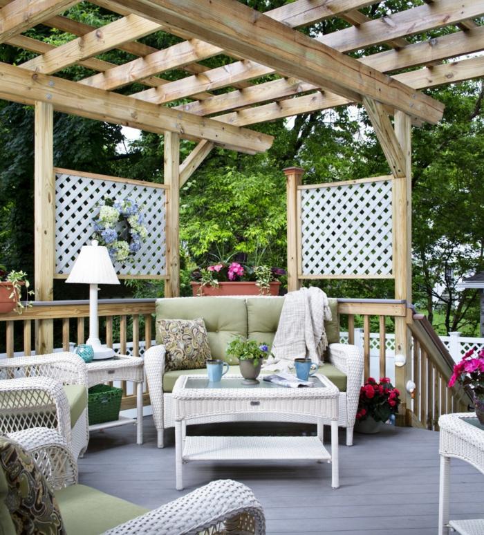 10 erfrischende ideen wie man die terrasse gestalten und erneuern kann. Black Bedroom Furniture Sets. Home Design Ideas