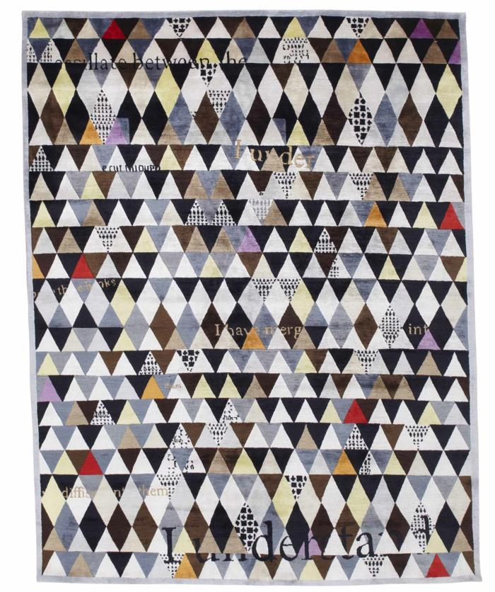 Wandteppich Sabine de Gunzburg atelier geometrisches muster