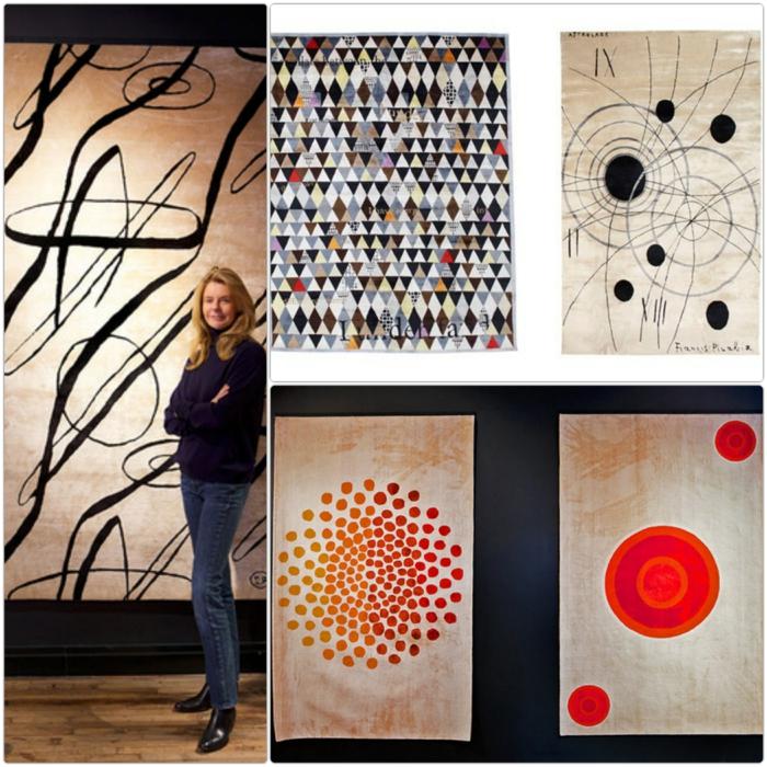 Wandteppich design Sabine de Gunzburg atelier