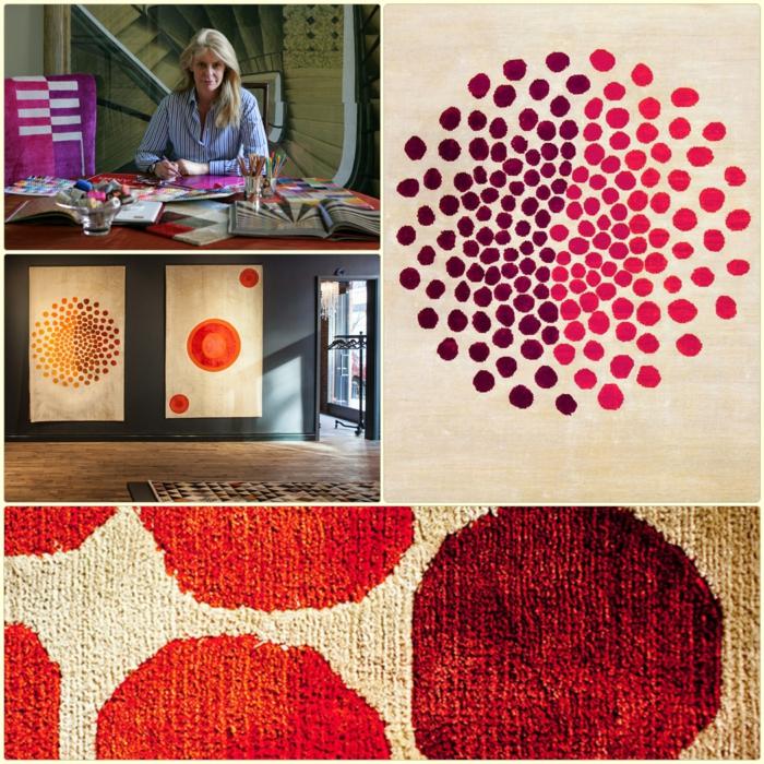 Wandteppich muster teppich Sabine de Gunzburg atelier