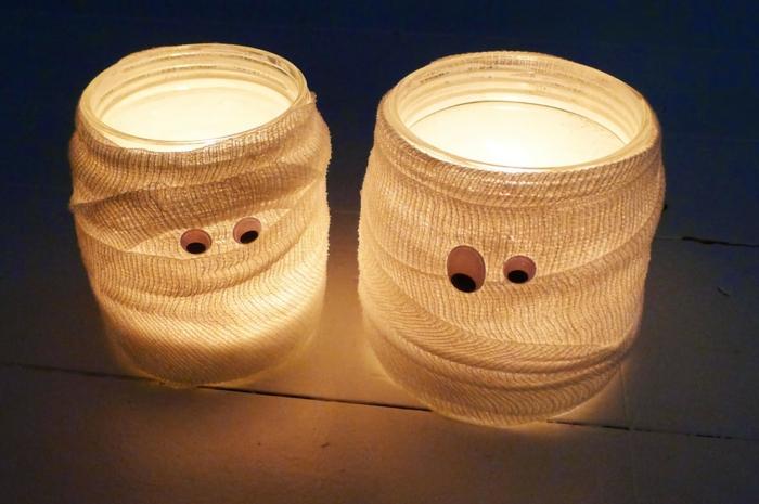 Windlichter basteln und auf gute gedanken kommen - Halloween dekoration selber basteln ...