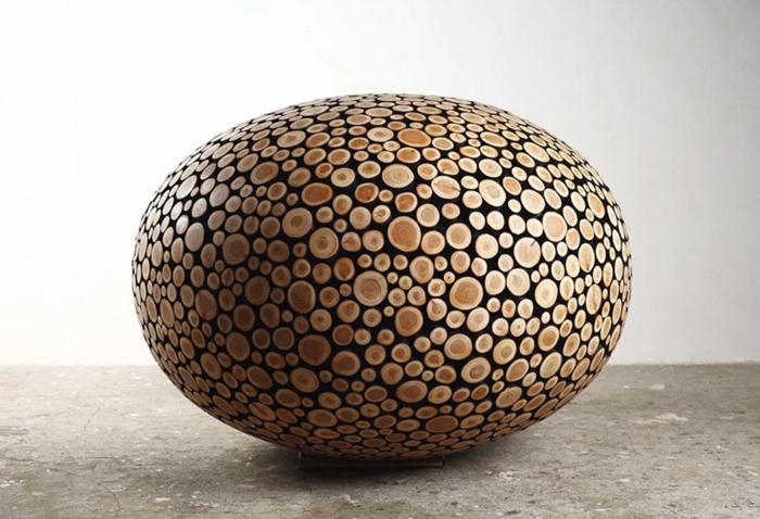 Zeitgenössische Kunst holz skulpturen sued korea glatt