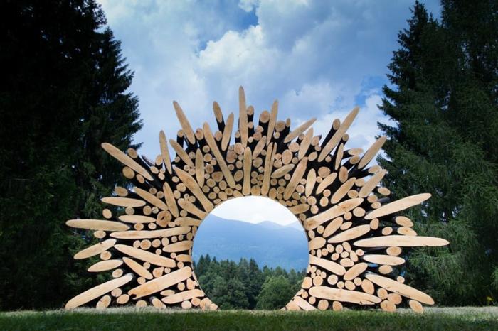 Zeitgenössische Kunst holz skulpturen sued korea in szene gesetz