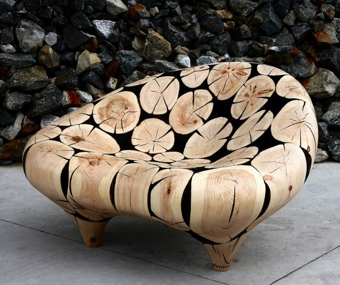 Zeitgenössische Kunst holz skulpturen sued korea