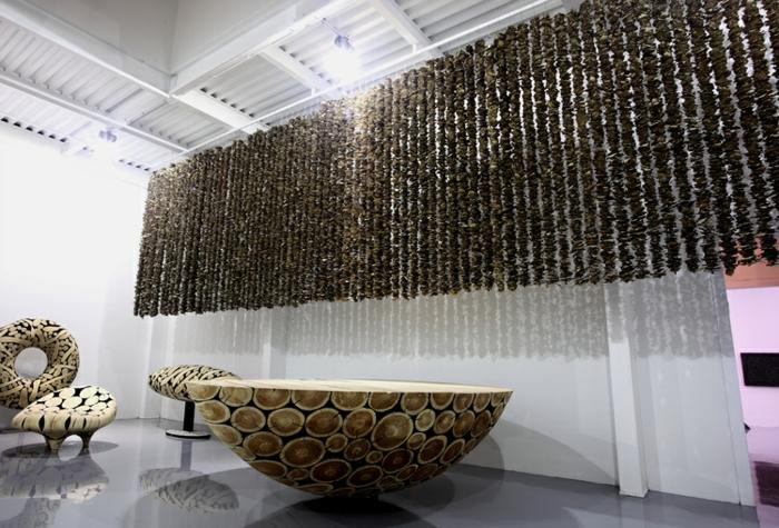 Zeitgenössische Kunst studio des künstlers spiegelung