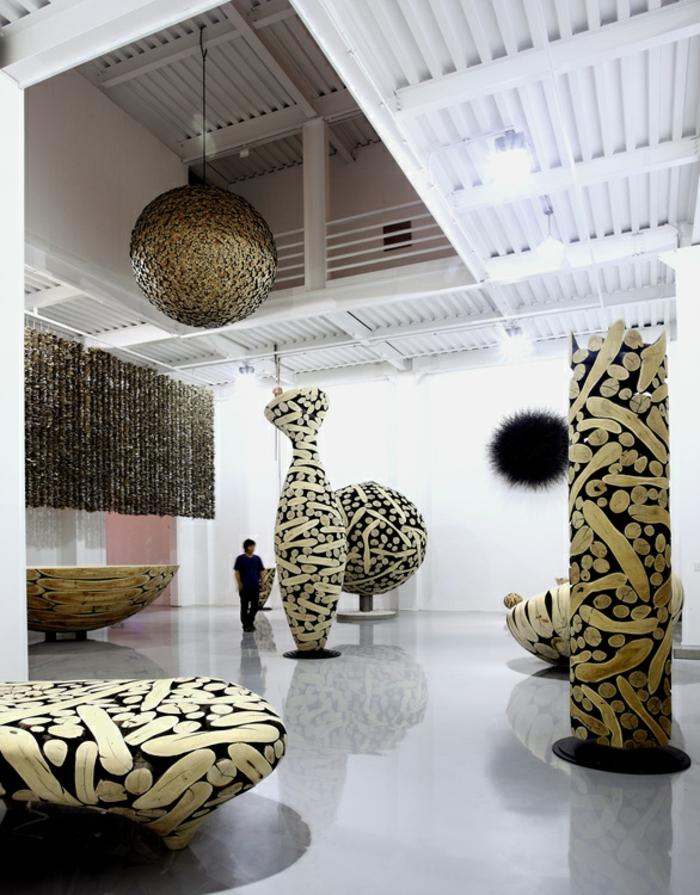 Zeitgenössische Kunst studio des künstlers
