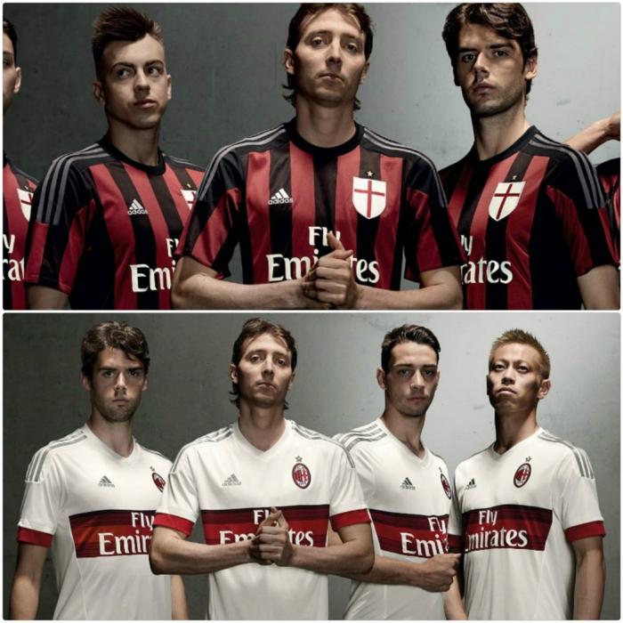 adidas trikotsatz 20152016 fußballtrikots ac milan