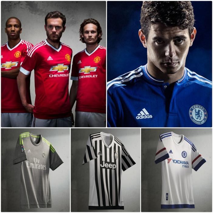 adidas trikotsatz fußballtrikots new season 2015 2016