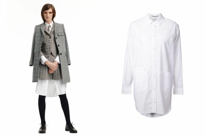 aktuelle aktuelle modetrends dona karen karierte oberteile hemd elegante schuhe