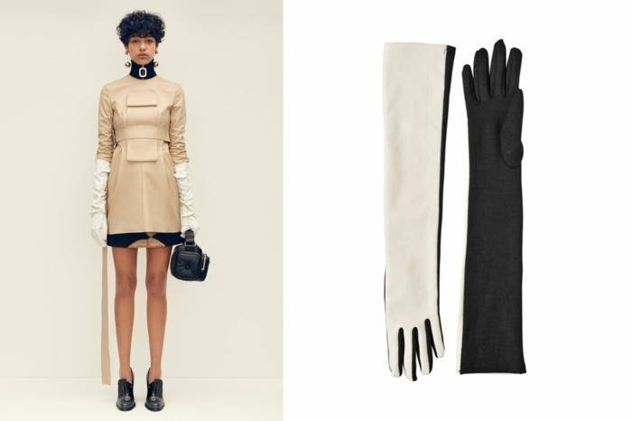 aktuelle modetrends dona karen kollektion herbst beiges kleid