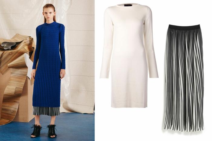 aktuelle modetrends dona karen lange kleider kobaltblau