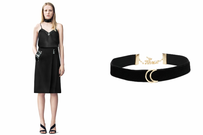 aktuelle modetrends dona karen schwarzes kurzes kleid