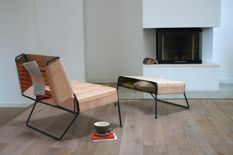 anastasiya koshcheeva relaxsessel mit hocker lounge möbel