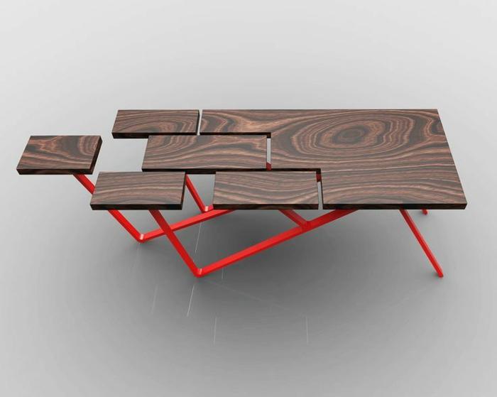 ausgefallene möbel designermöbel holzrtisch avantgarde
