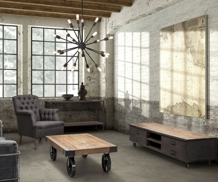 ausgefallene designer möbel industrial möbel couchtisch holz