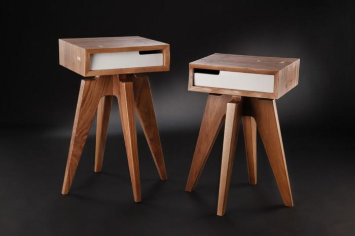ausgefallene möbel retro design echtholz möbel